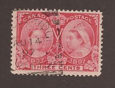 CANADA #53 USED SQUARED CIRCLE CANCEL JUBILEE FULLY DATED
