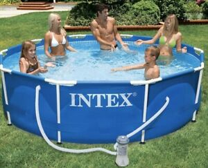 Intex Metal Frame Pool 366 x 76 cm 28212GN filter inlcuded