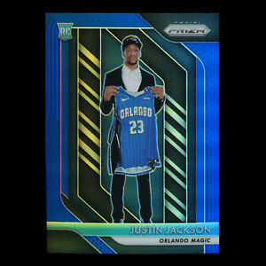 Justin Jackson RC 2018-19 Prizm Blue Rookie Magic043/199