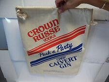 """Crown Russe Vodka - Crisp Calvert Gin Tote Bag. 17-1/2"""" x 14""""  MC7"""