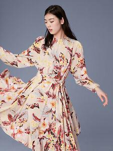 Diane Von Furstenberg long sleeve waist tie silk Uk8 BNWT £500  CURRENT