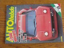 $$$ Revue Auto hebdo N°421 Ferrari GTOMercedes 190 E.23.16GP FranceAlfa 33
