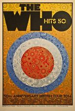 The Who 50th Anniversary British Tour 2014 Chuck Sperry 1st Ed Print Poster Art