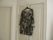 Ladies Long Top Size XL Design Suzannegrae Colour Black,Fawn & yellow  Polyester