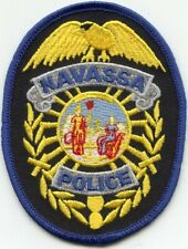 NAVASSA NORTH CAROLINA NC Blue Border POLICE PATCH