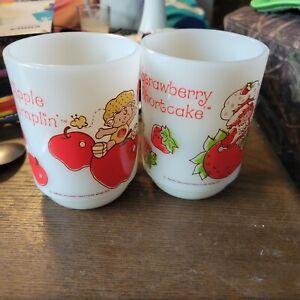 Strawberry Shortcake Milk Glass-strawberry Shortcake & Apple Dumpling