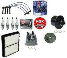 Full Tune Up Kit Filters Cap Rotor NGK Wires & Plugs For Civic EX Si D16Z6 V-Tec
