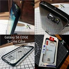 Samsung Galaxy S6 Edge Case S-Line Protective Clear Shell With Black Bumper