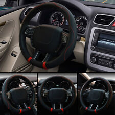 "15""/38cm Microfiber Leather Auto Car Steering Wheel Cover Anti-slip Accessories"