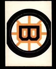 1972 BOSTON BRUINS OPC NHL TEAM LOGO O PEE CHEE NM #3696