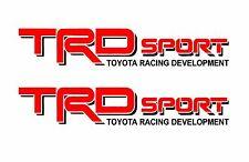 TRD Vinyl Decal /Vinyl Stickers 1 PAIR RED / BLACK Graphics Toyota Sport Racing