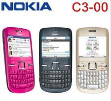 "C3 original unlocked Nokia C3-00 cell phone 2.0MP Camera FM MP3 MP4 Player 2.4"""