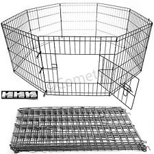 8 Panel Extra Large Pet Play Pen Puppy Rabbit Animal Dog Cage Run Garden Fence