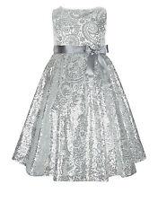 Nuevo Monzón Claudine Vestido para niñas 10 años