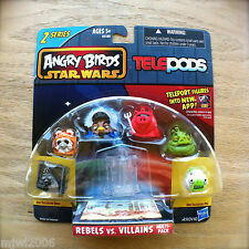ANGRY BIRDS STAR WARS TELEPODS REBELS VS. VILLAINS MULTI-PACK Series 2 6 Figures