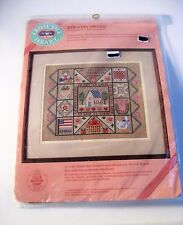 Vintage 1988 Dimensions, Inc. Country Charm Counted Cross Stitch Kit Complete