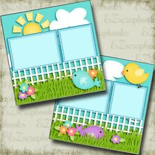 Joy of Spring - 2 Premade Scrapbook Pages - EZ Layout 3788