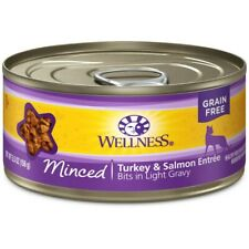 Wellness Natural Grain Free Minced Turkey & Salmon Entre Wet Cat Food, 5.5 oz, C