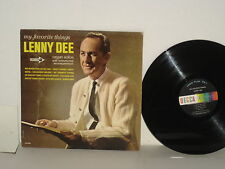 LENNY DEE My Favorite Things LP Organ Mono Downtown Yakety Organ Autumn Leaves