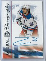 2017-18 SP Authentic Hockey Global Chirography Mats Zuccarello Auto  A 1:1,902
