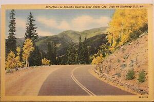 Utah UT Heber City Daniel's Canyon Postcard Old Vintage Card View Standard Post