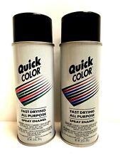 2 Quick Color Spray Enamel Gloss Black Modeling & Craft Paint 10 oz New J28518
