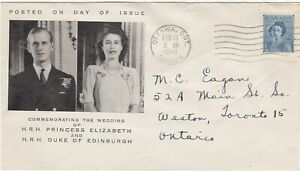 First Day Cover (#276) Royal Wedding February 16, 1948