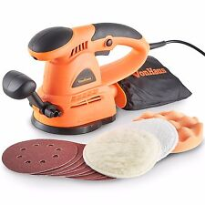 VonHaus 430W Electric 125mm Random Orbit Sander Polisher Buffer Multitool Corded