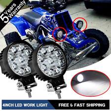 "Round 4 inch 3"" 54w Front Bumper Grab Led Work Light Banshee Headlight Combo"