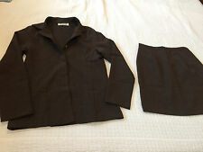 Women Suit, Brown, Size Small