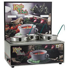 "Winco Esm-34Kf, Soup Merchandiser with three 4-Quart Insets, ""Kettle Fresh�"