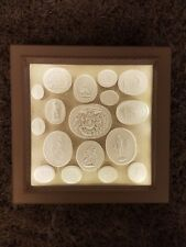 #17 Grand Tour Cameos Intaglios Gems Medallions Tassie Seals In Display Cabinet
