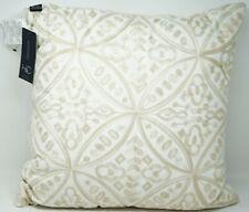 "Hallmart Collectibles Embroidered 100% Cotton 20"" Decorative Pillow - Beige"