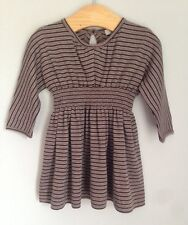 Caramel Baby & Child Striped Cotton Baby Dress Size 6 Months BNWOT