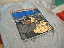CRATERS OF THE MOON Idaho National Monument Shosone Gray Youth Tee T-Shirt EUC