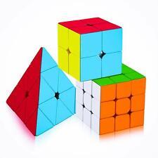 Cube Combo of 2X2 3x3 and Pyraminx Pyramid Triangle High Speed Stickerless Cube
