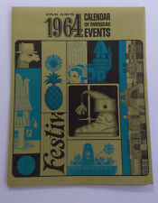 1964 Pan Am Calendar of Overseas Events from Every Continent - Wow!