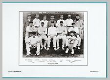 CRICKET  -  UNMOUNTED CRICKET TEAM PRINT - NOTTINGHAMSHIRE - 1895