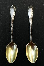 Set of 2 Vintage Gold Plated 875 Silver Coffee Spoons Soviet USSR, 106mm, 2x12 g