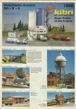 Katalog Kibri Neuheiten 1998 Modellbausätze Gebäude + Zubehör in HO 1:87 N Z