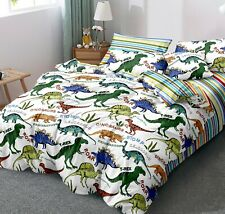 All Size Bed Ultra Soft Quilt Duvet Doona Cover Set Bedding Dinosaur Park