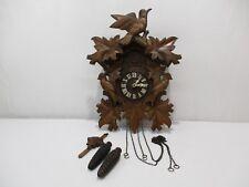 HORLOGE PENDULE COUCOU FORET NOIRE BLACK FOREST CLOCK PENDULUM OROLOGIO