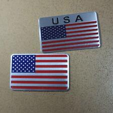 2PCS Big USA Map Metal Emblem Sticker Badge Decal america Motor 3D united states