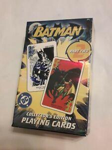 BATMAN Collector's Edition Playing Cards Part 2, New & sealed Carta Mundi