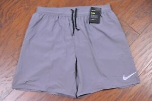 """NWT Nike Flex Stride 7"""" Lined Running Shorts Gray Men's Large L"""