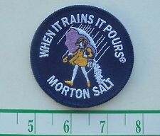1980's MORTON SALT CLOTH IRON-ON PATCH NEW/UNUSED APPROX. 3""