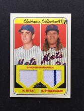 2018 Topps Heritage Nolan Ryan Noah Syndergaard Dual Relic SSP # /69 Mets