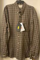 BERETTA Men's Brown Check Wood Button Down Shirt Style LU210 Size XXL MSRP $85