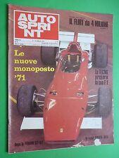 AUTOSPRINT 1971/6 Ferrari 512 M Wilson Fittipaldi F3 Tecno in F1 March 711 Alfa
