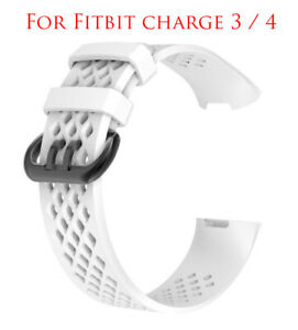 Strap For Fitbit Charge 3 4 Strap Replacement Watch Band White SMALL / LARGE
